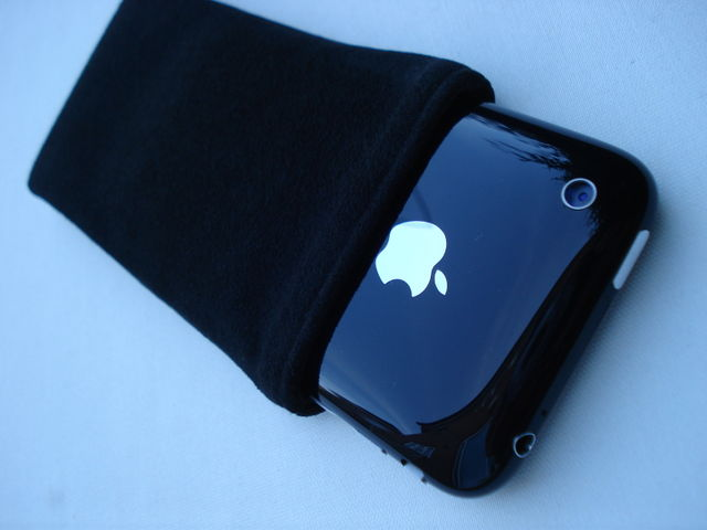 Alcantara Black sleeve line with black microfibre for iPhone 3GS £16.00 plus £3.50 p&p