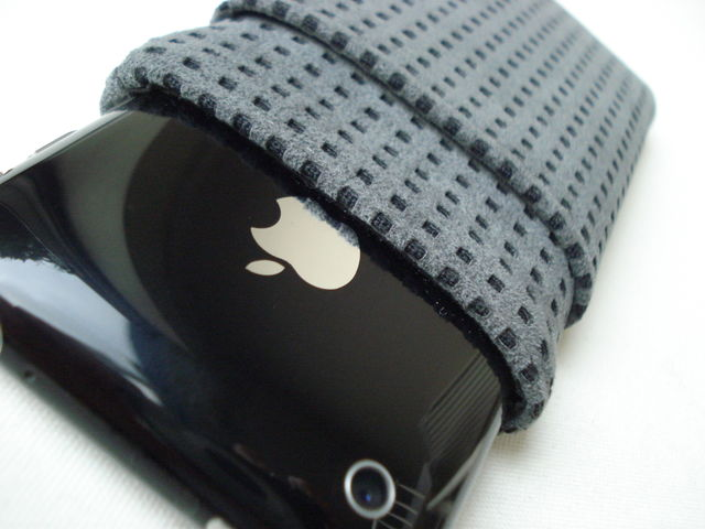 Alcantara Metal Grey sleeve for iPhone 3GS with pocket £21.00 plus £3.50 p&p