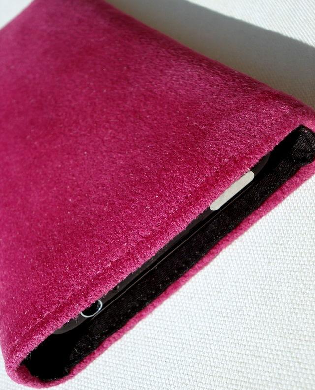 Alcantara Pink sleeve for iPhone 3GS £17.00 plus £3.50 p&p