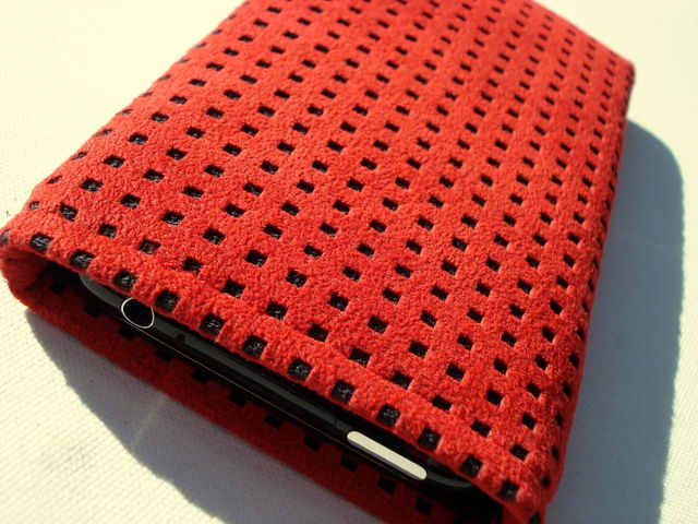 Alcantara Red sleeve for iPhone 3GS £18.00 plus £3.50 p&p