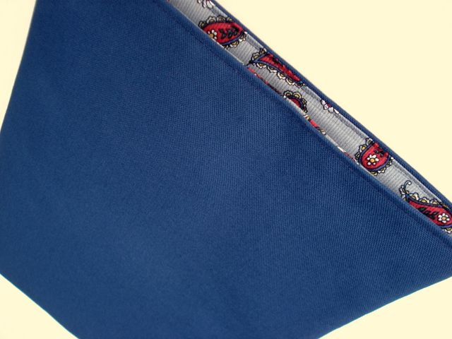 Navy canvas Paisley lined to fit MacBook Pro 13 £20.00