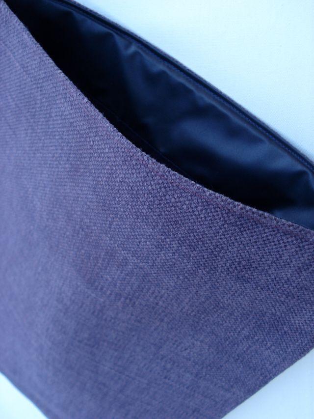 Natural linen sleeve for MacBook Pro 13 (Purple) £20.00