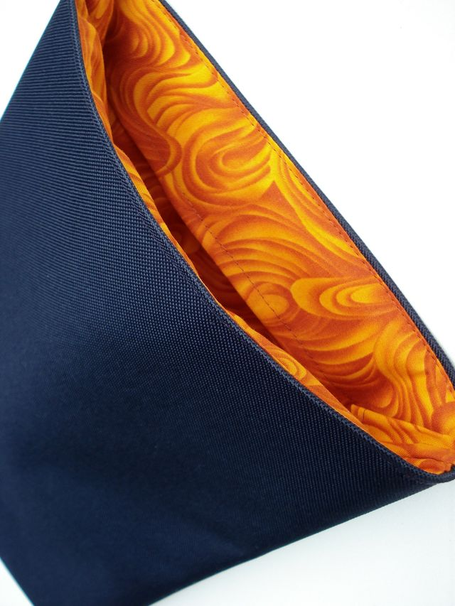 Navy Cordura Robert Kaufman Orange Wave Lining to fit MacBook Pro 13 £20.00
