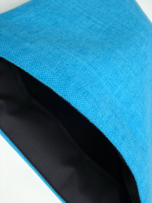 Natural linen sleeve for MacBook Pro 13 (Turquoise) £20.00