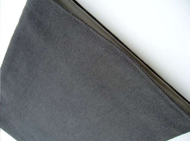 Natural linen sleeve for MacBook Pro 13 (Charcoal) £20.00